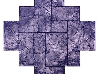 Bê tông áp khuôn đá xẻ