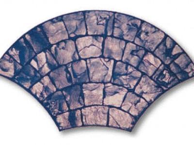 Bê tông giả đá hình quạt vân nổi