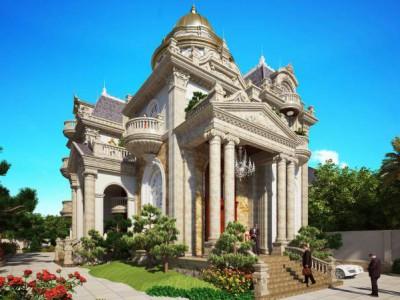 Thi công thiết kế biệt thự cổ điển