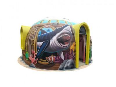 Nhà vòm đúc sẵn với thiết kế đầy màu sắc