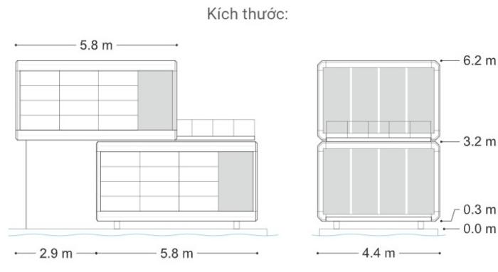 mô hình nhà lắp ghép