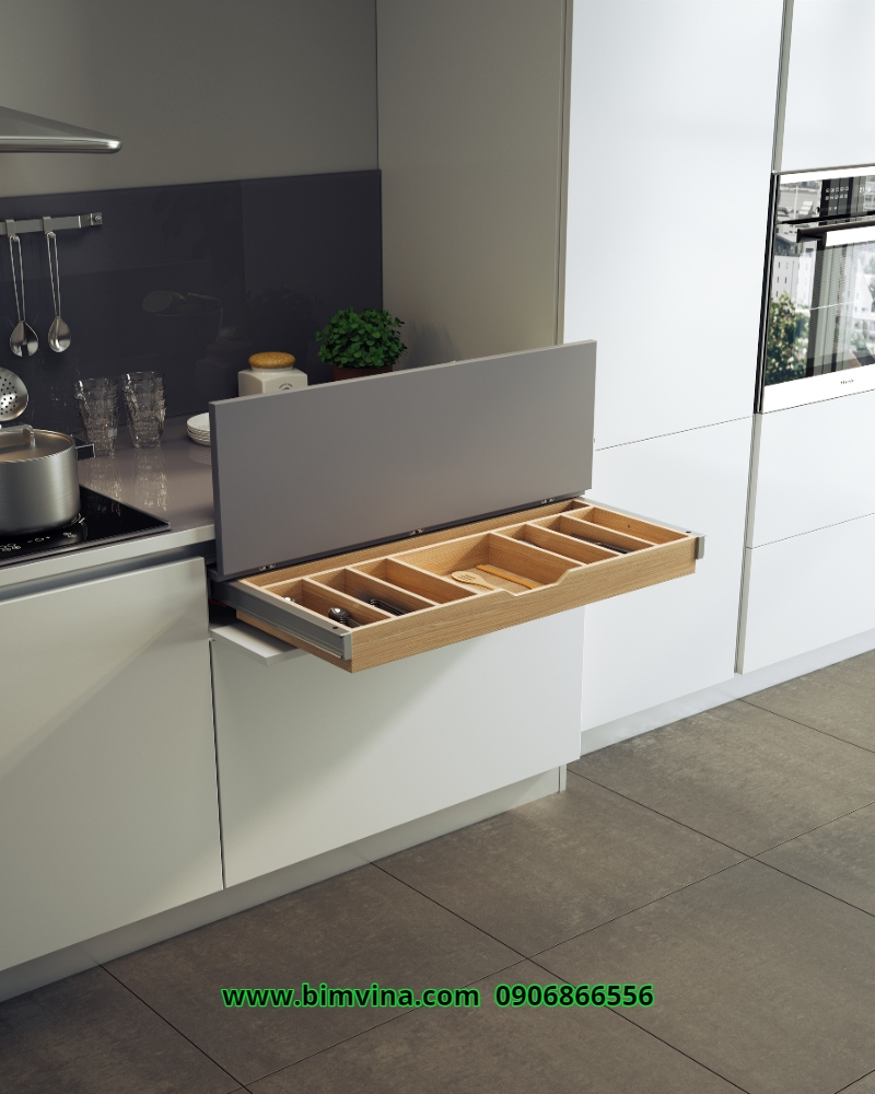 top 7 tủ bếp gỗ tự nhiên