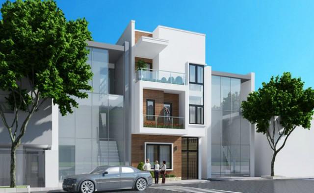 Mẫu thiết kế xây dựng nhà phố