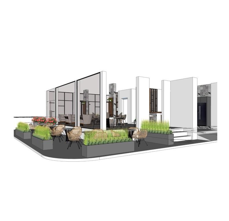 Mẫu thiết kế kiến trúc quán cafe